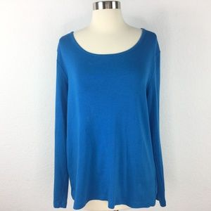 White Stag Blue Long Sleeve Top Women Size XL